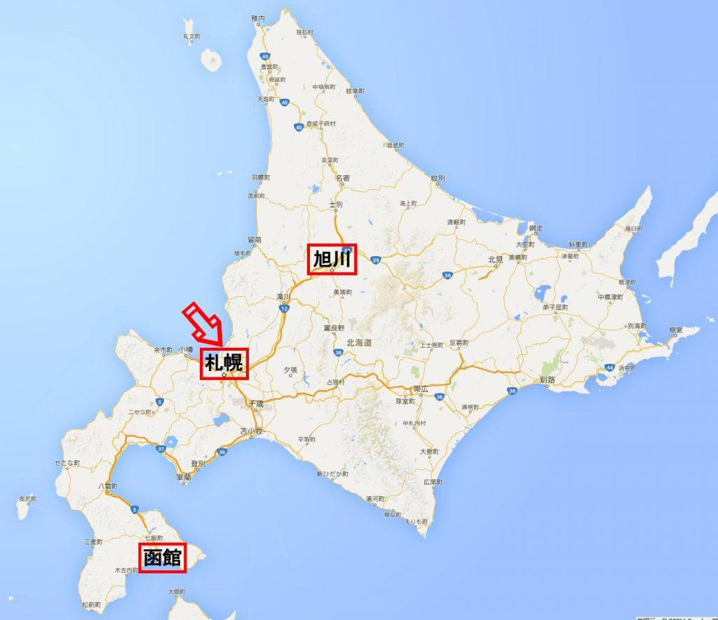 北海道地図(札幌、函館、旭川)4