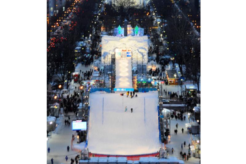 雪まつりジャンプ台サイズ変更